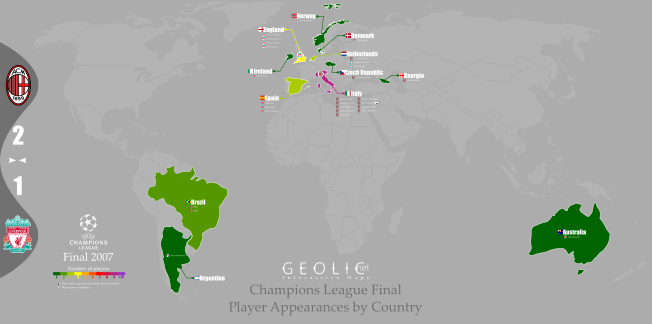 Champions League Finals in Maps