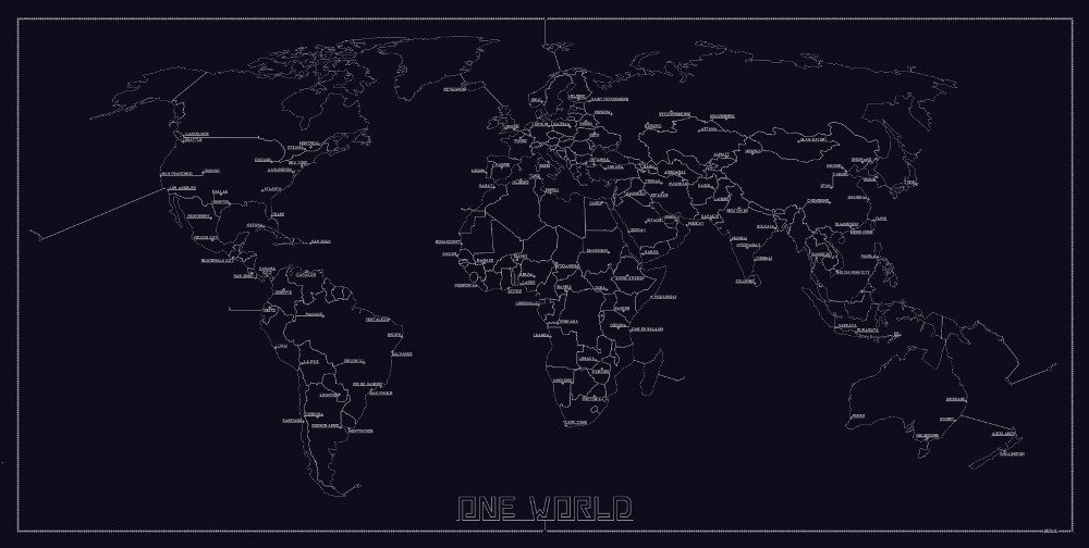 One Line – One Map – One World